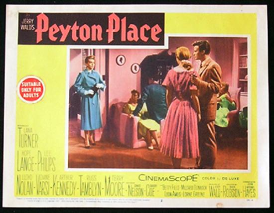 PEYTON PLACE Lobby card 2 1957 Lana Turner Hope Lange