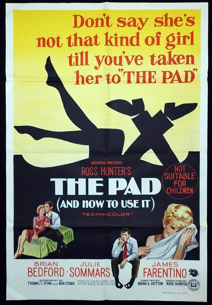 THE PAD AND HOW TO USE IT Original One sheet Movie poster Ross Hunter