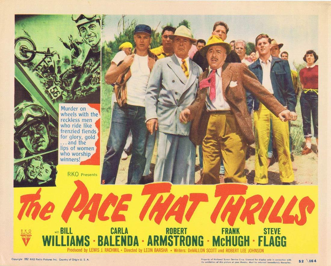 THE PACE THAT THRILLS Lobby Card 3 Bill WIlliams RKO Motorcyle Biker