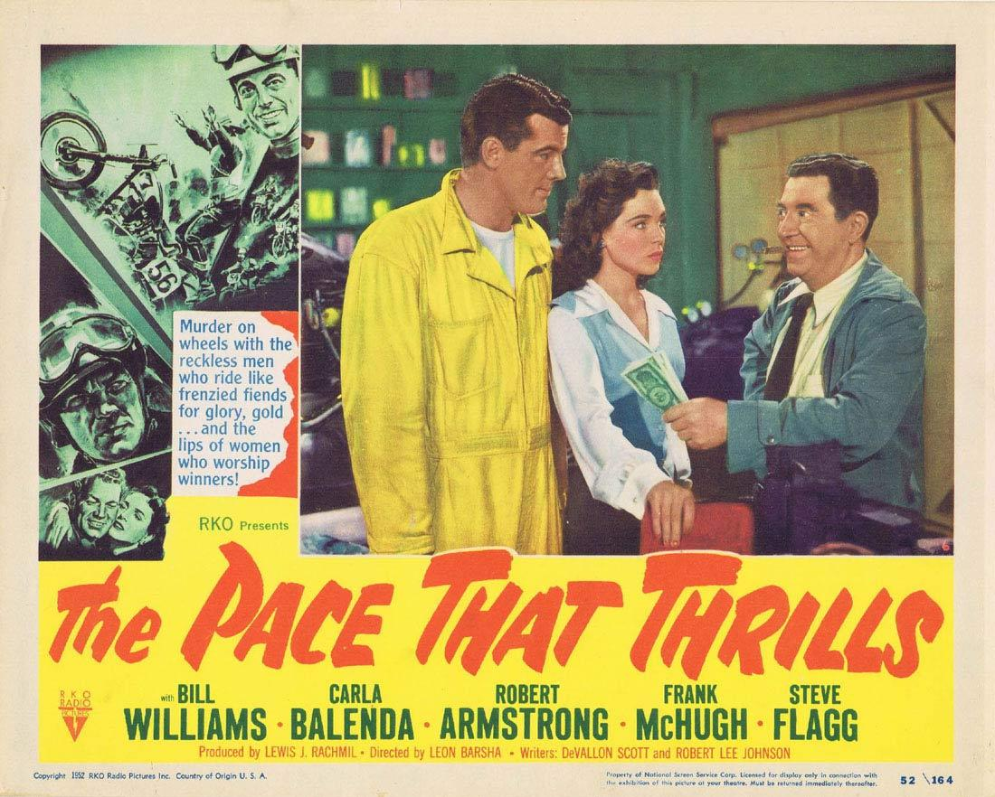 THE PACE THAT THRILLS Lobby Card 6 Bill WIlliams RKO Motorcyle Biker