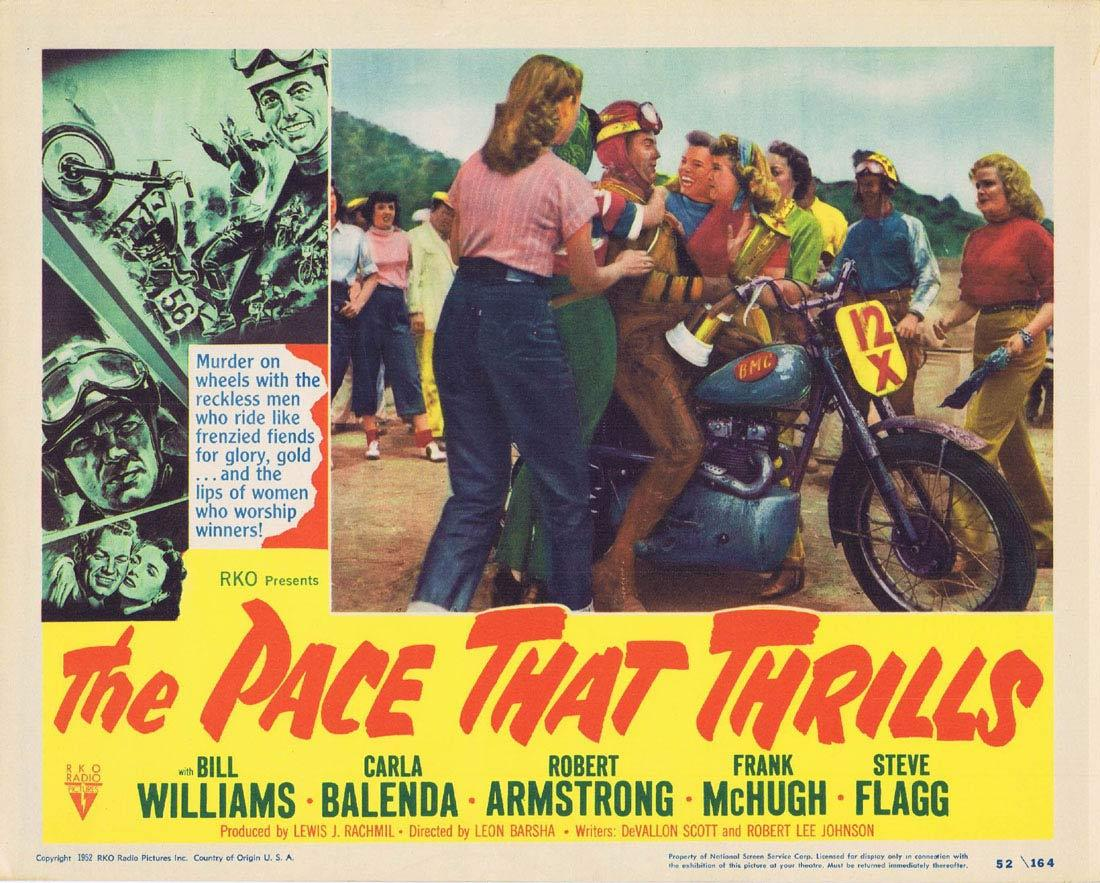 THE PACE THAT THRILLS Lobby Card 7 Bill WIlliams RKO Motorcyle Biker
