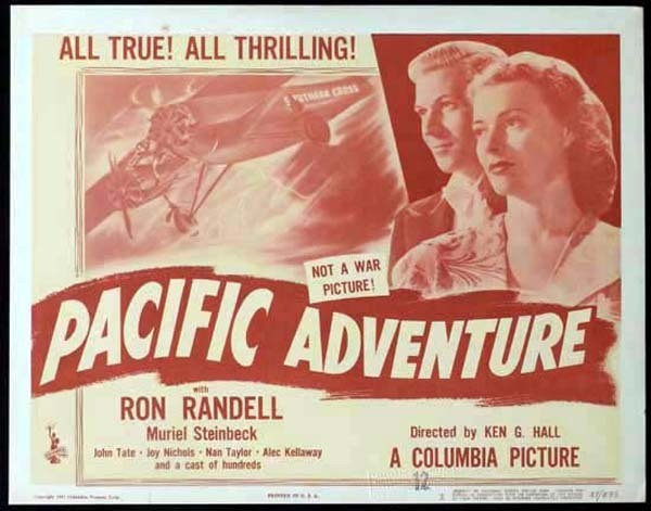 SMITHY aka PACIFIC ADVENTURE 1946 Ken G. Hall KINGSFORD SMITH Title Lobby Card