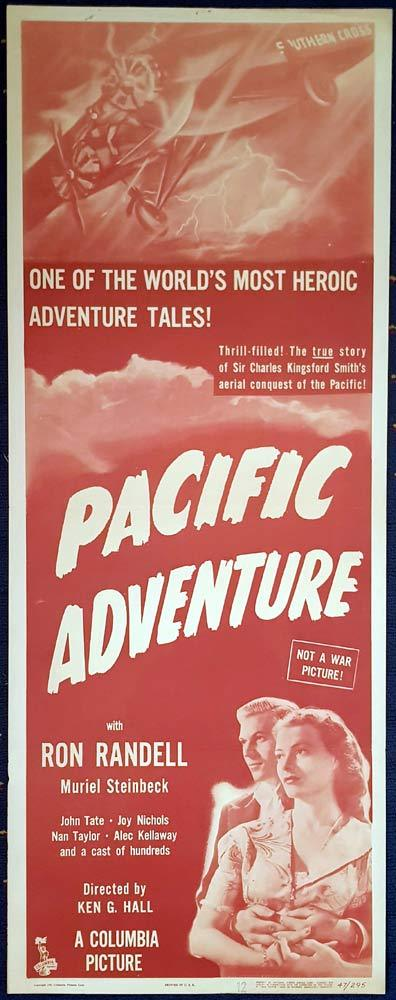 PACIFIC ADVENTURE aka SMITHY Original US Insert Movie Poster Ken G. Hall. Ron Randell