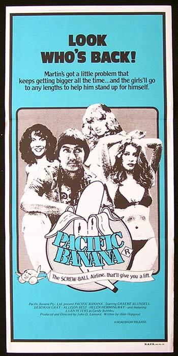 PACIFIC BANANA Original daybill Movie poster John Lamond GRAEME BLUNDELL