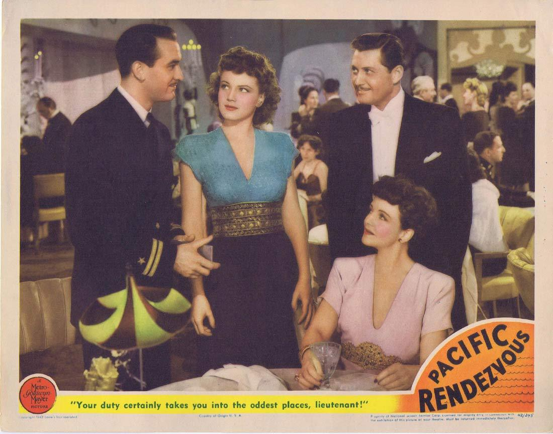 PACIFIC RENDEZVOUS Original Lobby Card Lee Bowman Jean Rogers Mona Maris 1942