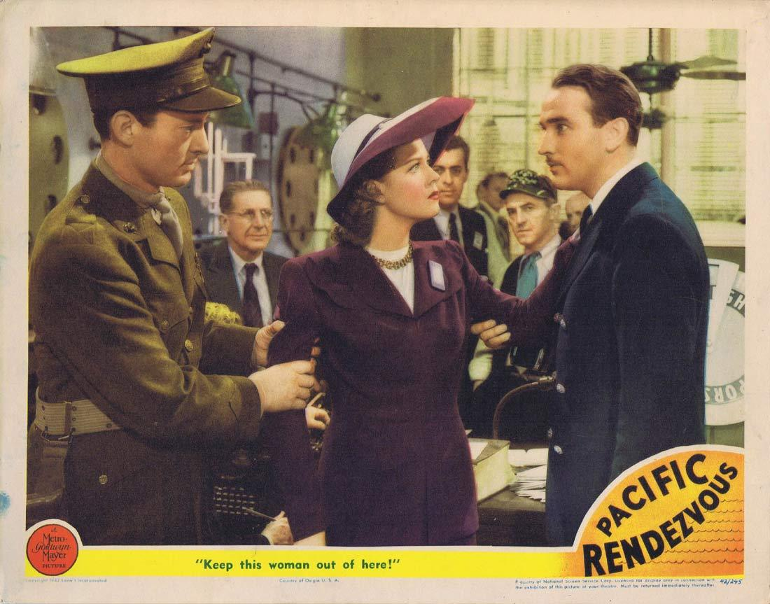PACIFIC RENDEZVOUS Original Lobby Card 2 Jean Rogers Lee Bowman