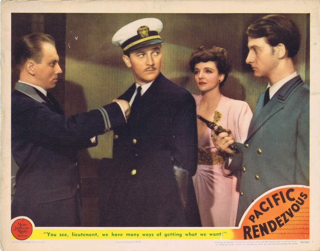PACIFIC RENDEZVOUS Original Lobby Card 3 Jean Rogers Lee Bowman