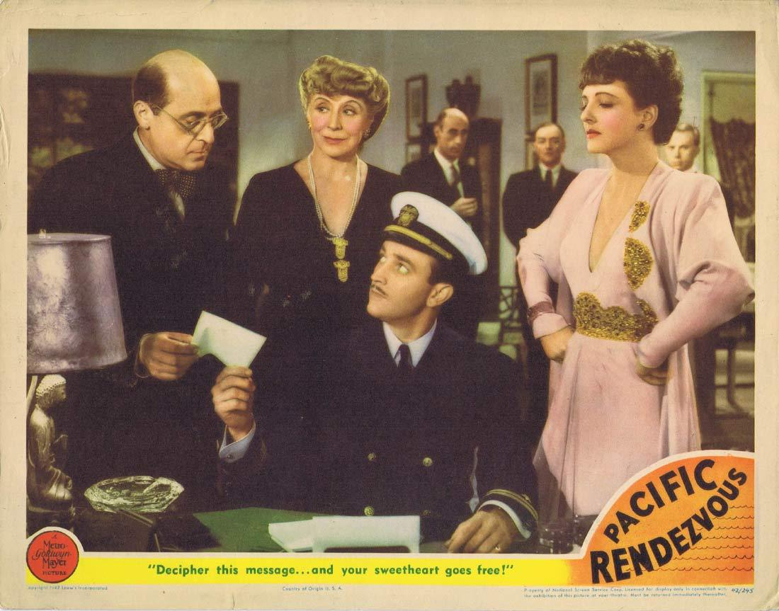 PACIFIC RENDEZVOUS Original Lobby Card 4 Jean Rogers Lee Bowman