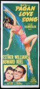 PAGAN LOVE SONG Original Daybill Movie Poster Esther Williams Howard Keel