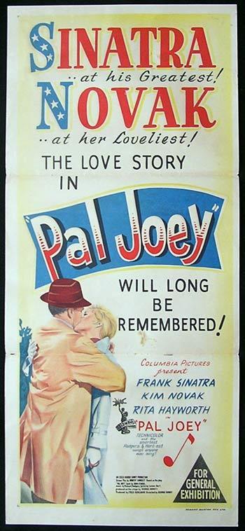 PAL JOEY Movie Poster 1953 Frank Sinatra RARE daybill