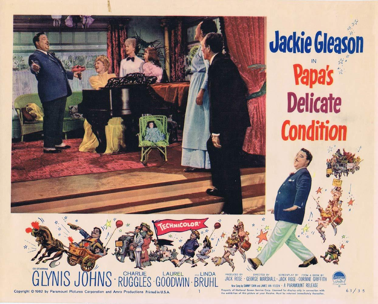 PAPAS DELICATE CONDITION Lobby Card 1 Jackie Gleason Glynis Johns