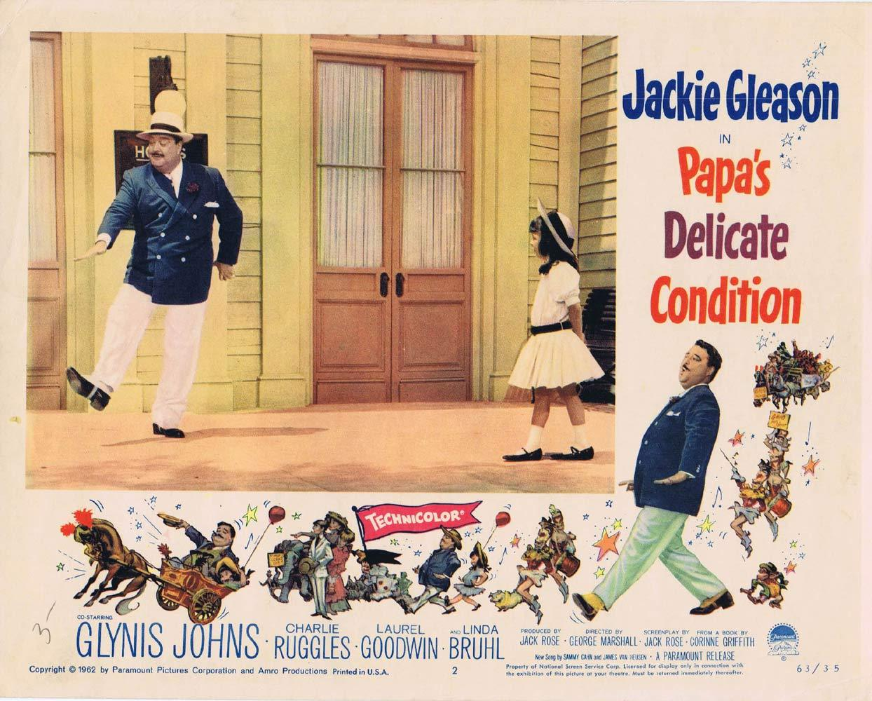 PAPAS DELICATE CONDITION Lobby Card 2 Jackie Gleason Glynis Johns