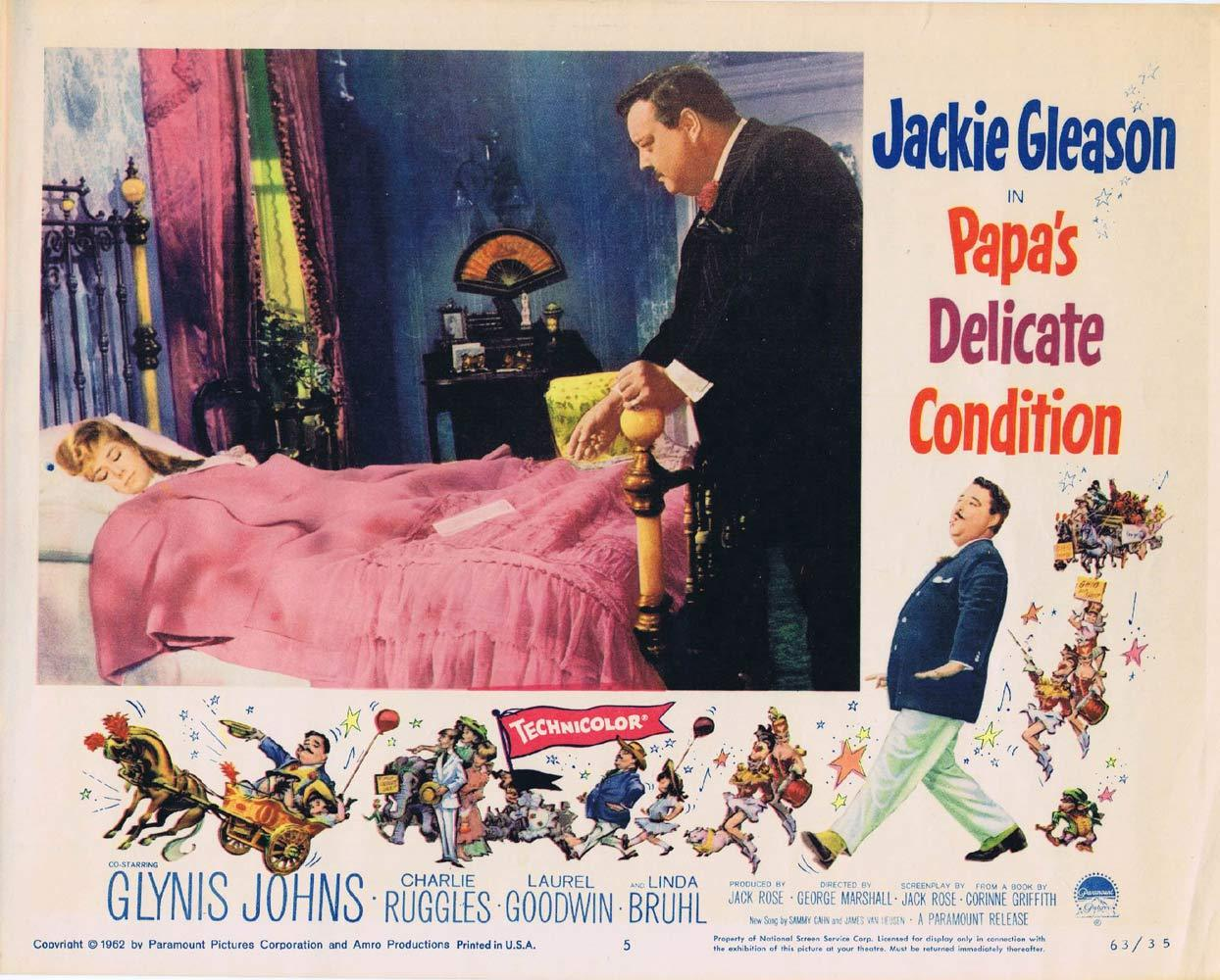 PAPAS DELICATE CONDITION Lobby Card 5 Jackie Gleason Glynis Johns