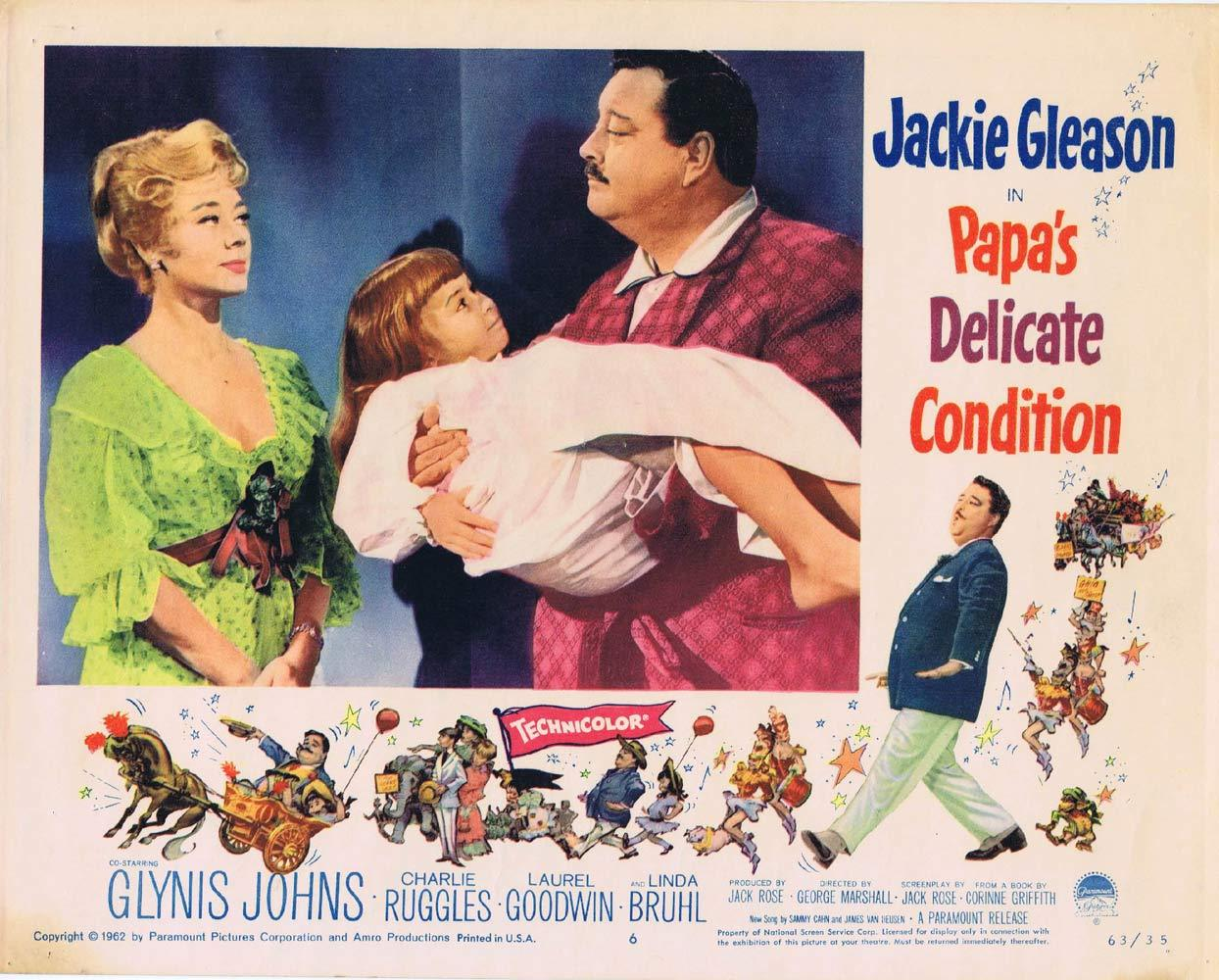 PAPAS DELICATE CONDITION Lobby Card 6 Jackie Gleason Glynis Johns