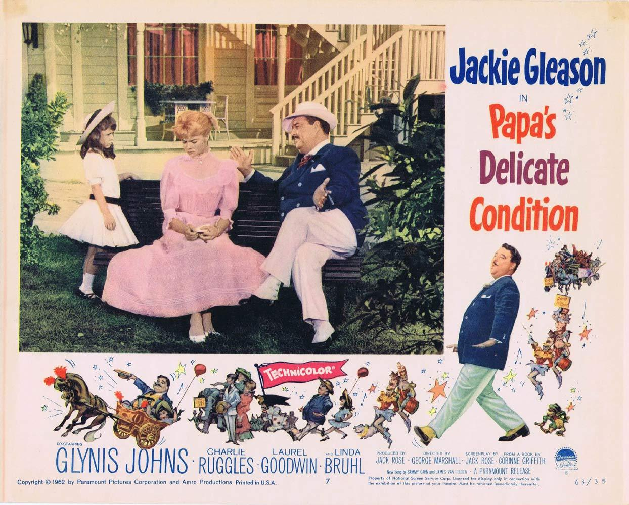 PAPAS DELICATE CONDITION Lobby Card 7 Jackie Gleason Glynis Johns