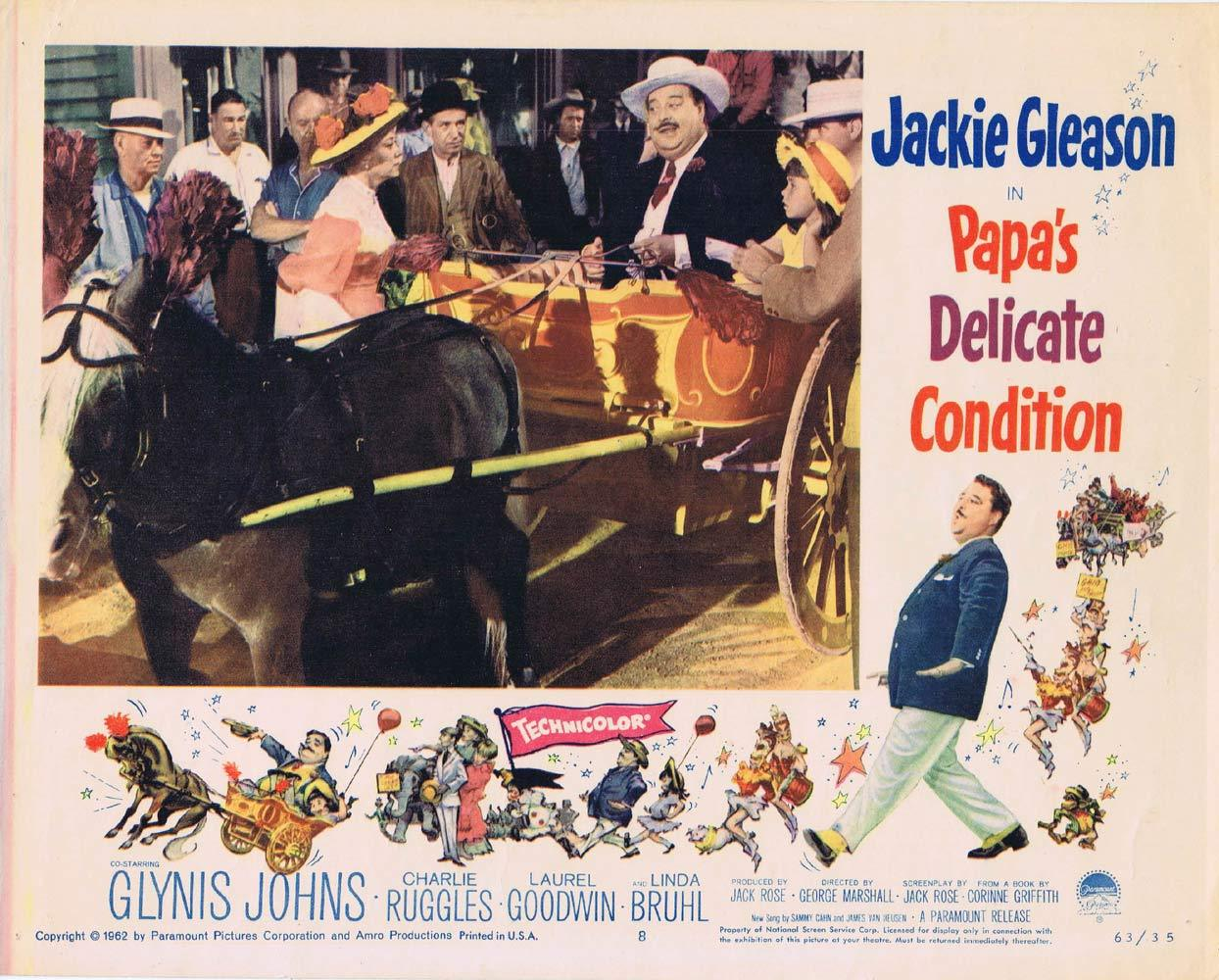 PAPAS DELICATE CONDITION Lobby Card 8 Jackie Gleason Glynis Johns