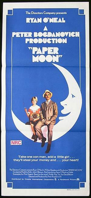 PAPER MOON Original Daybill Movie Poster Robert Mitchum Peter Falk