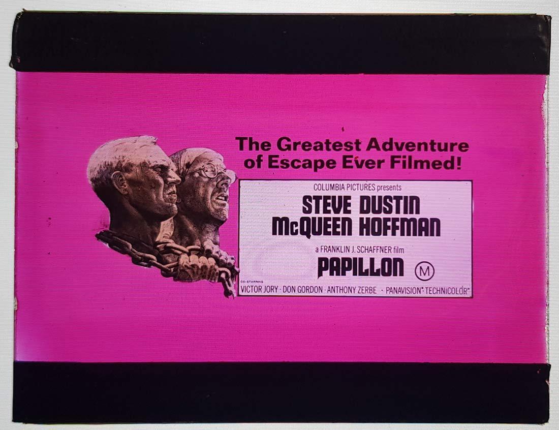 PAPILLON Movie Glass Slide  Steve McQueen Dustin Hoffman
