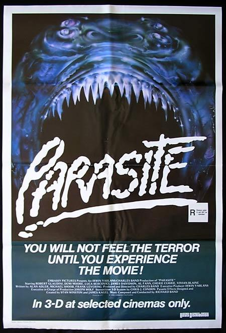 PARASITE 3D Original One sheet Movie poster Horror Demi Moore