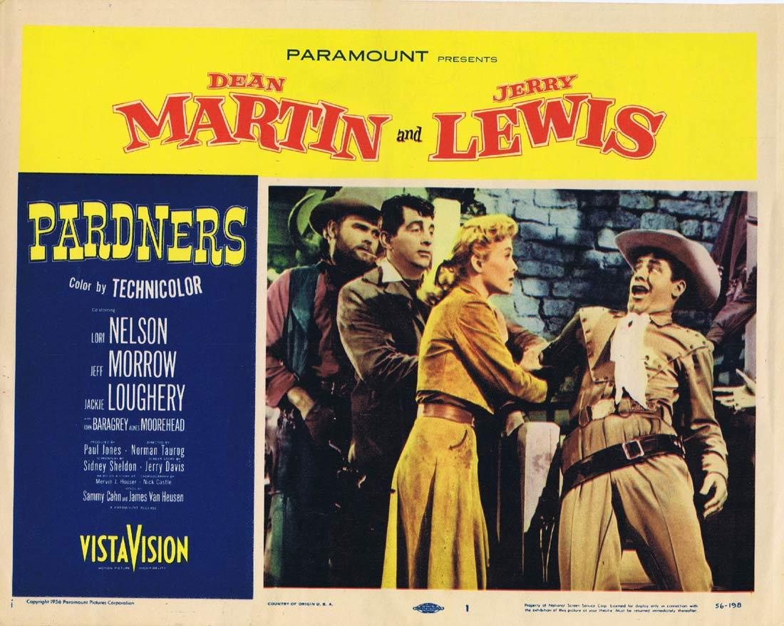 PARDNERS Original Lobby Card 1 Dean Martin Jerry Lewis