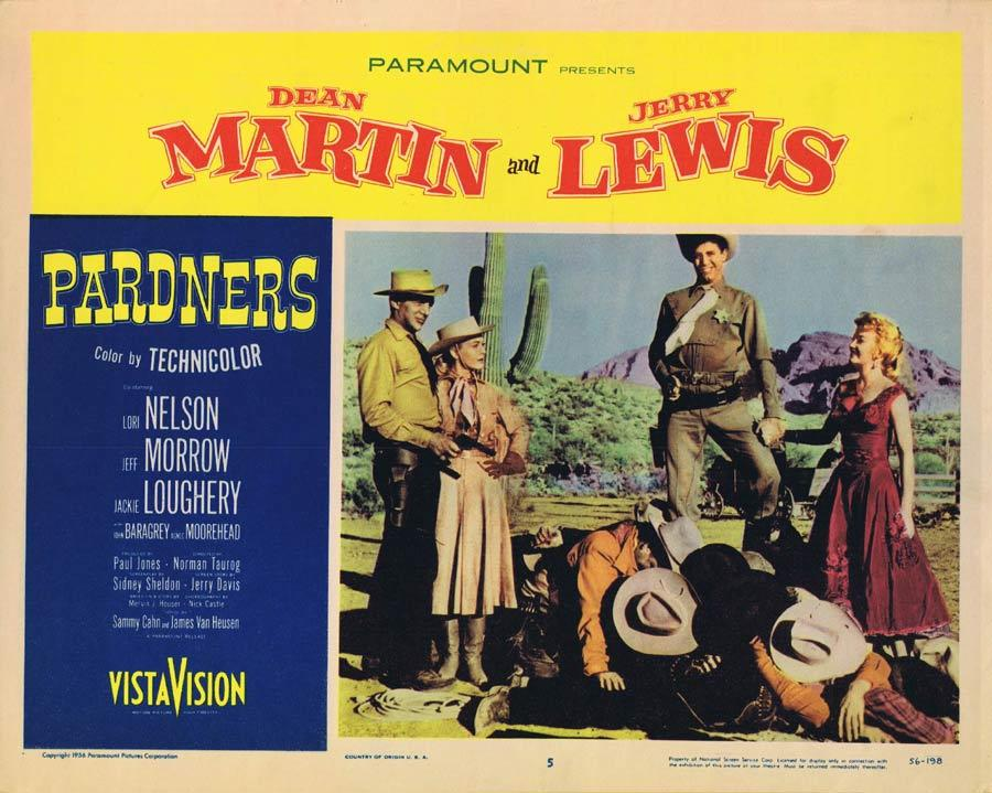 PARDNERS Lobby Card 5 Dean Martin Jerry Lewis