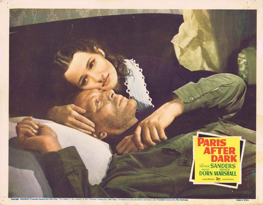 PARIS AFTER DARK Lobby Card 2 George Sanders Philip Dorn Brenda Marshall