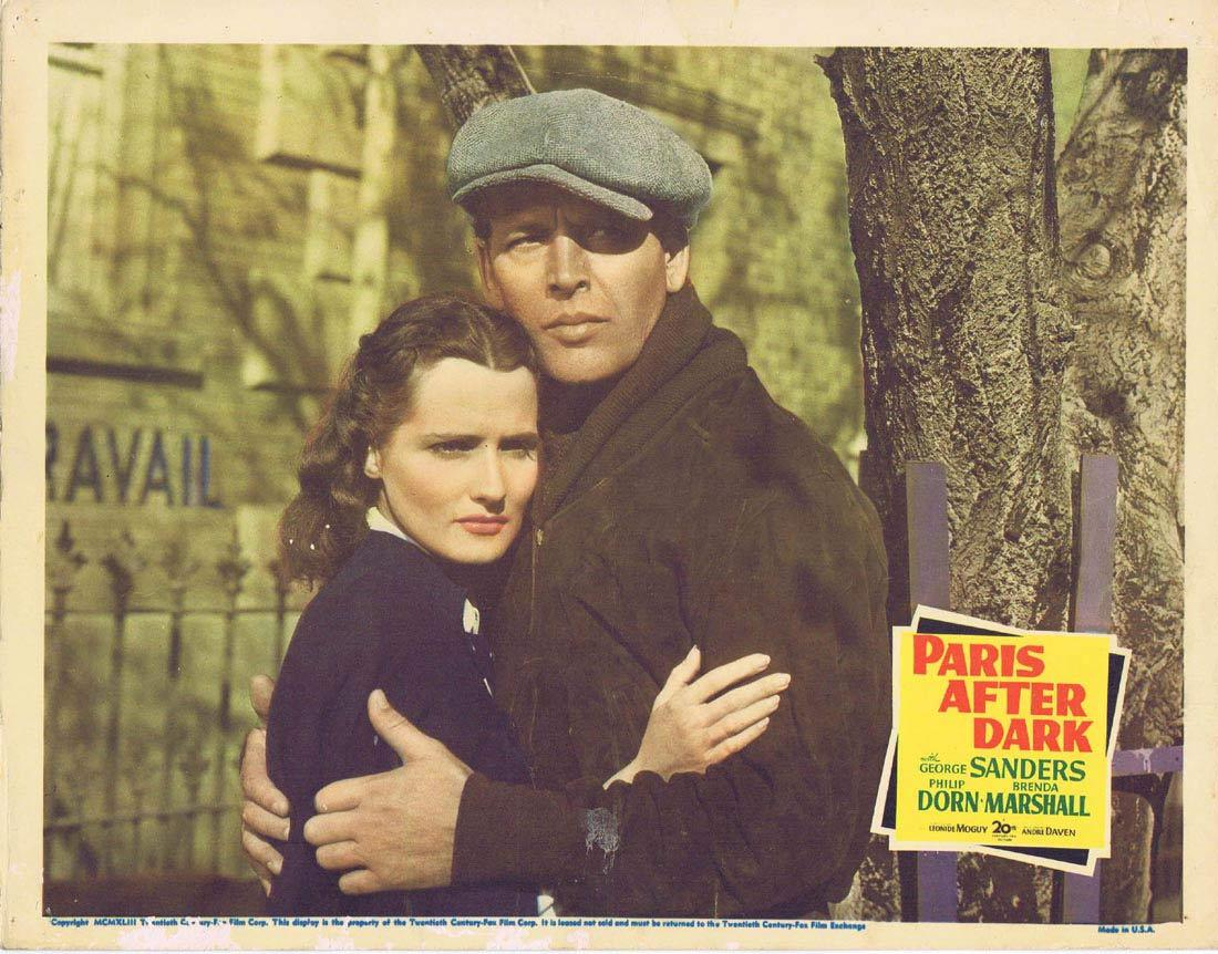 PARIS AFTER DARK Lobby Card 3 George Sanders Philip Dorn Brenda Marshall