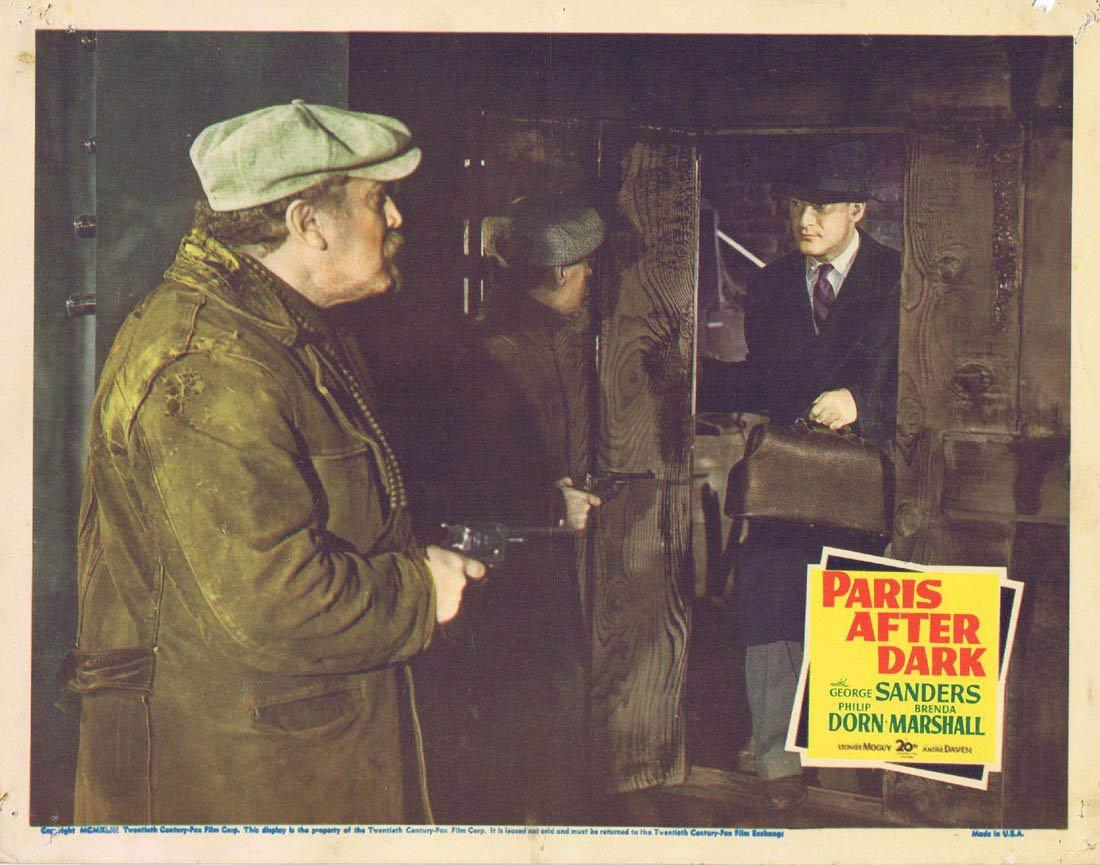 PARIS AFTER DARK Lobby Card 5 George Sanders Philip Dorn Brenda Marshall