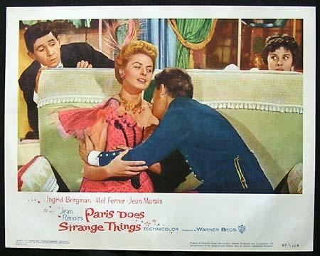 PARIS DOES STRANGE THINGS Ingrid Bergman ORIGINAL US Lobby card #3