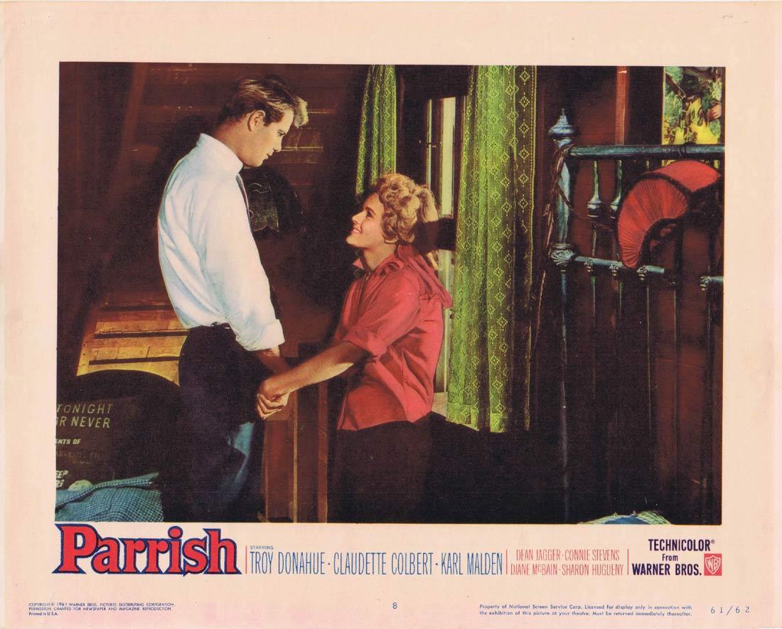 PARRISH Lobby Card 8 Troy Donahue Claudette Colbert Karl Malden