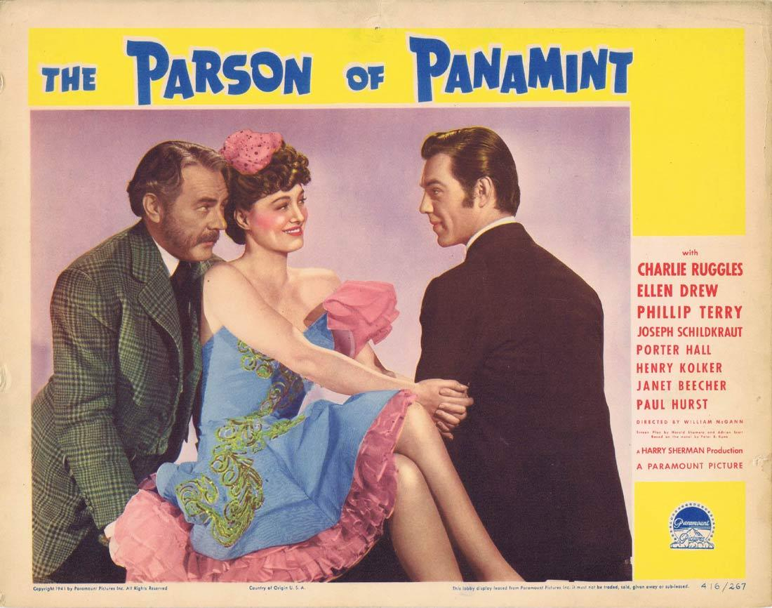 THE PARSON OF PANAMINT Lobby Card 4 Charlie Ruggles Ellen Drew Phillip Terry