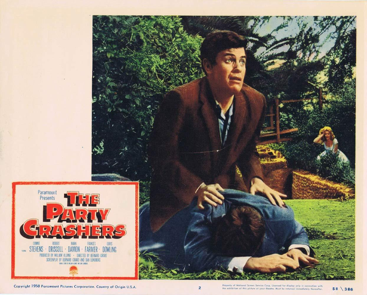 THE PARTY CRASHERS Original Lobby card 2 Mark DamonConnie Stevens