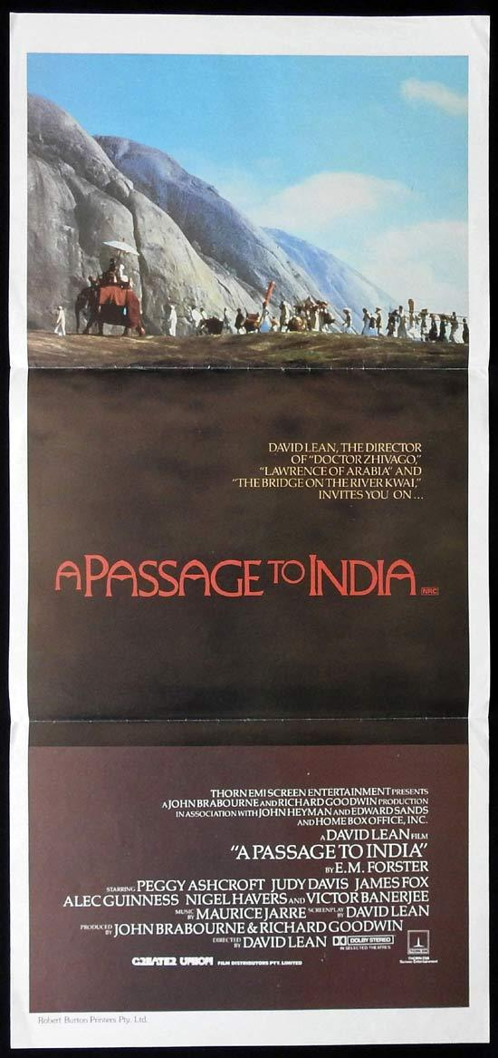 A PASSAGE TO INDIA Original daybill Movie Poster Peggy Ashcroft Judy Davis