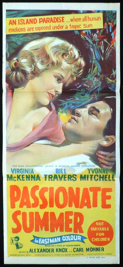PASSIONATE SUMMER Original Daybill Movie poster Virginia McKenna Bill Travers