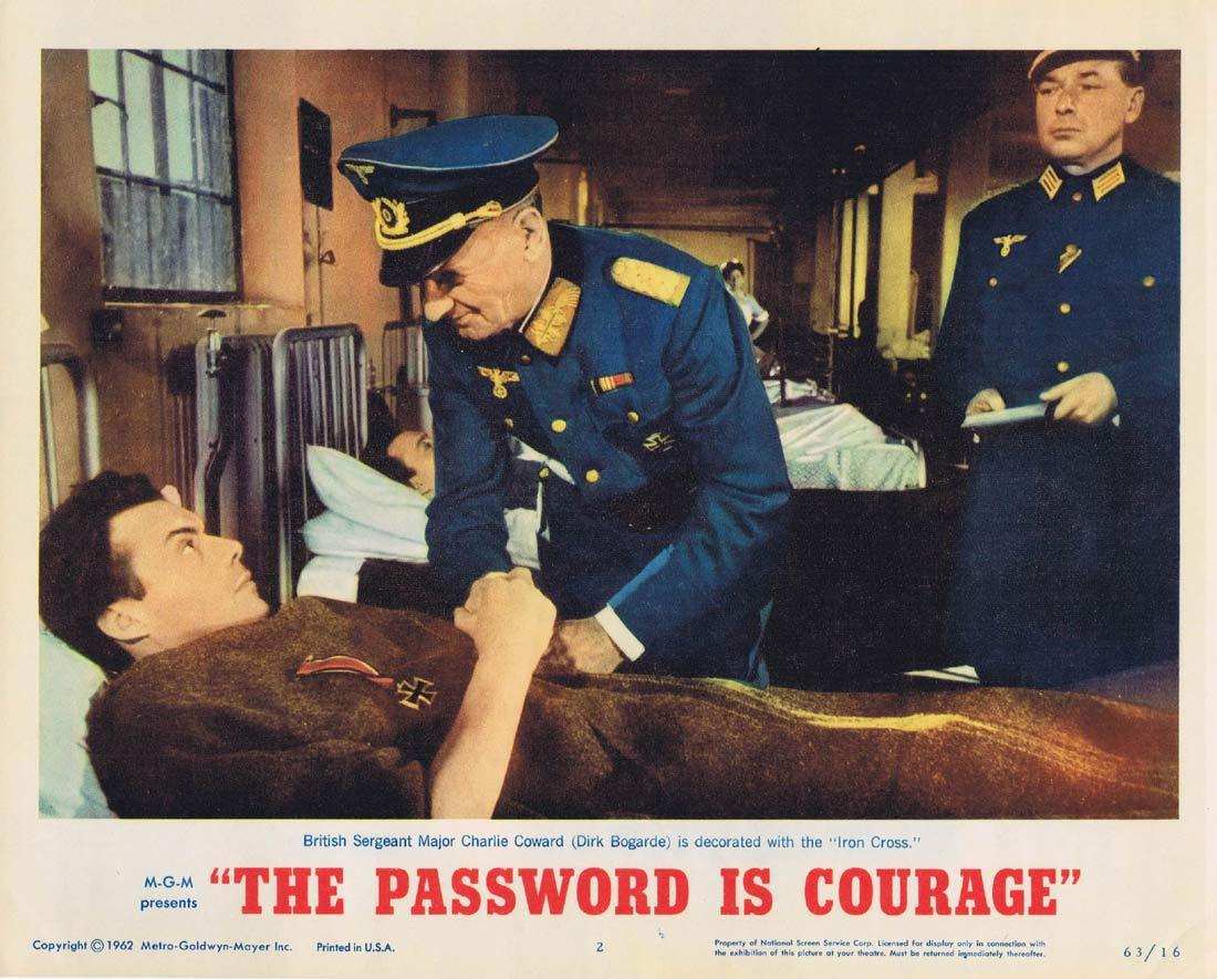 THE PASSWORD IS COURAGE Lobby Card 2 Dirk Bogarde Maria Perschy