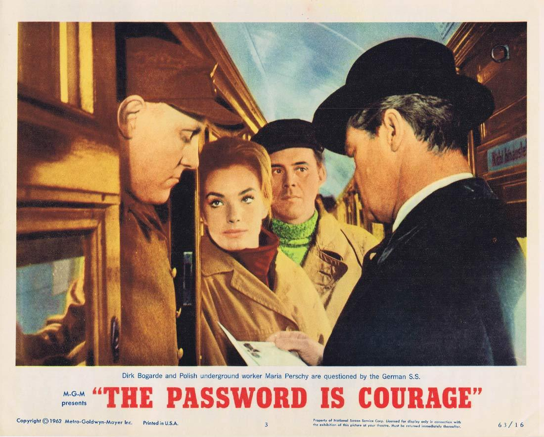 THE PASSWORD IS COURAGE Lobby Card 3 Dirk Bogarde Maria Perschy