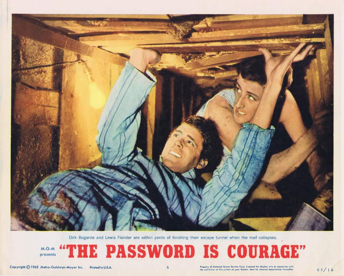 THE PASSWORD IS COURAGE Lobby Card 5 Dirk Bogarde Maria Perschy