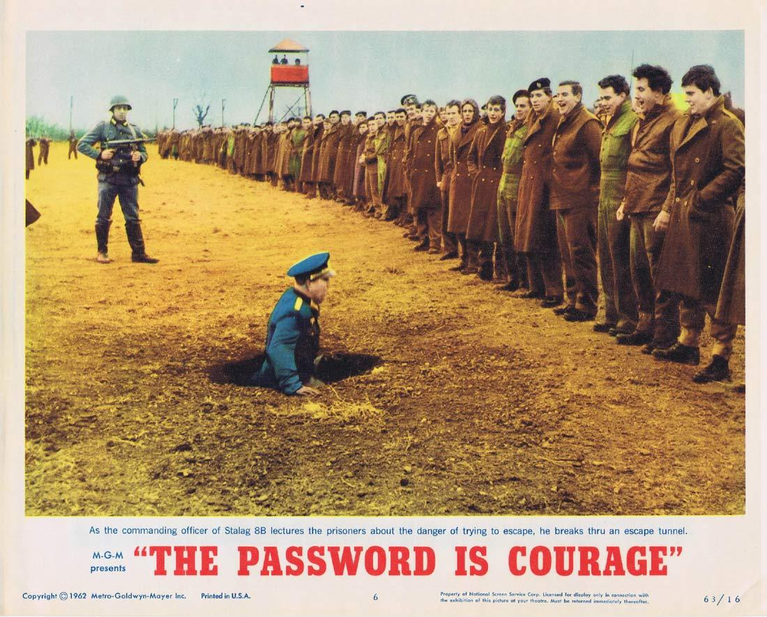 THE PASSWORD IS COURAGE Lobby Card 6 Dirk Bogarde Maria Perschy