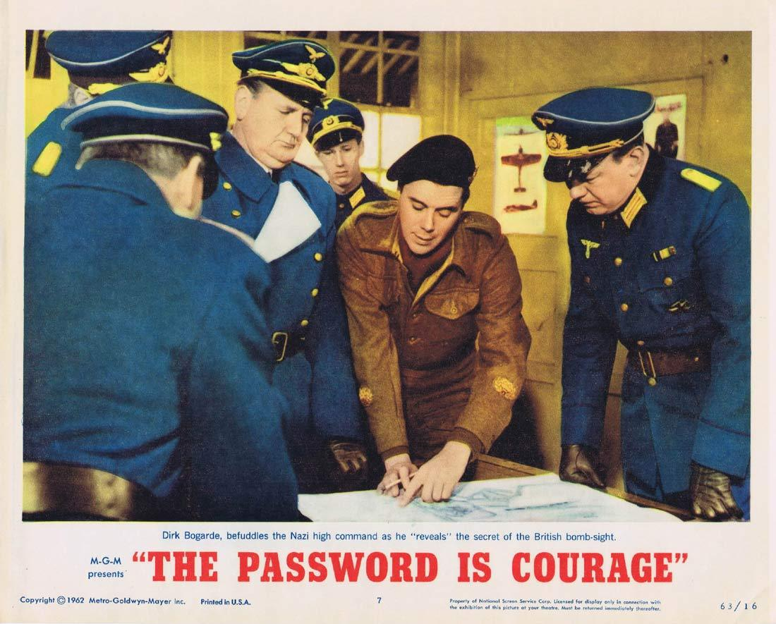 THE PASSWORD IS COURAGE Lobby Card 7 Dirk Bogarde Maria Perschy