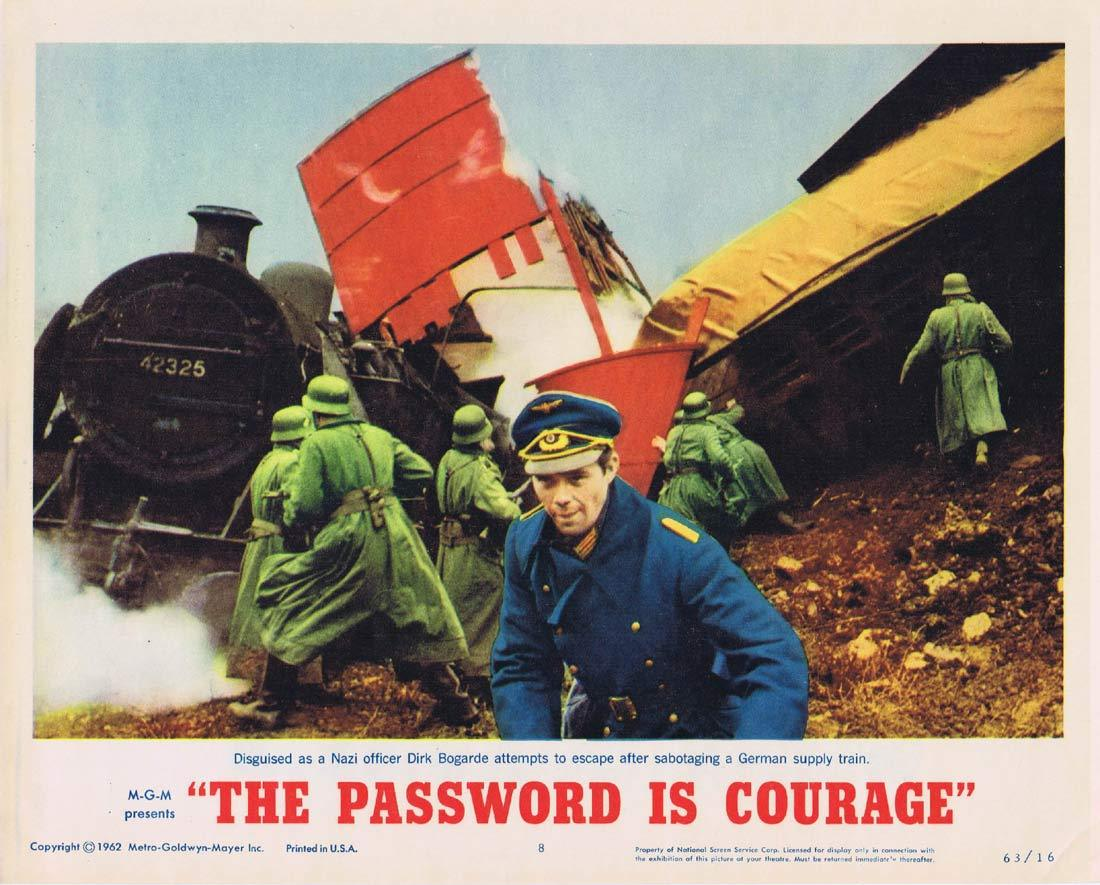 THE PASSWORD IS COURAGE Lobby Card 8 Dirk Bogarde Maria Perschy