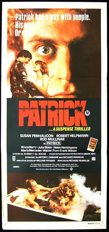 PATRICK Original Daybill Movie poster 1979 Richard Franklin