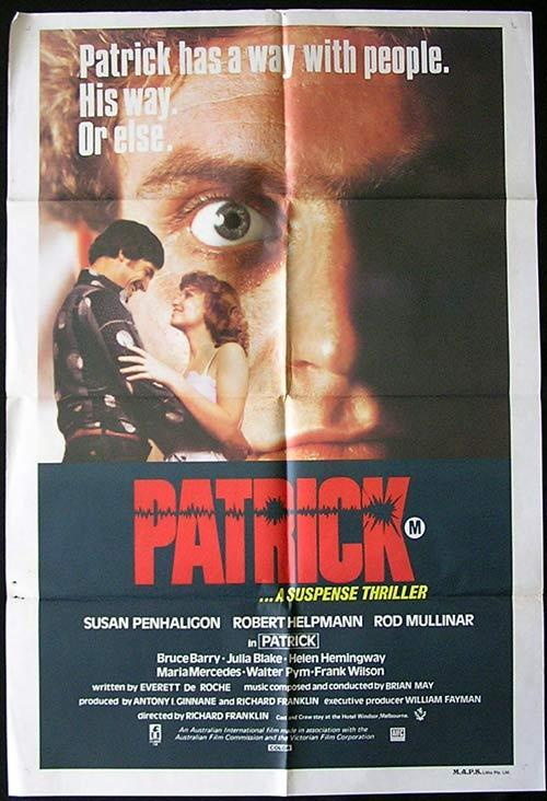 PATRICK 1979 Richard Franklin 1sht Movie poster