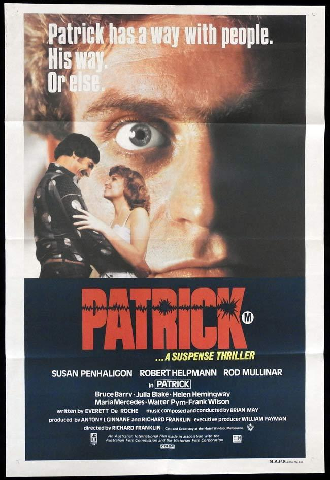 PATRICK One sheet Movie poster Richard Franklin Australian Horror