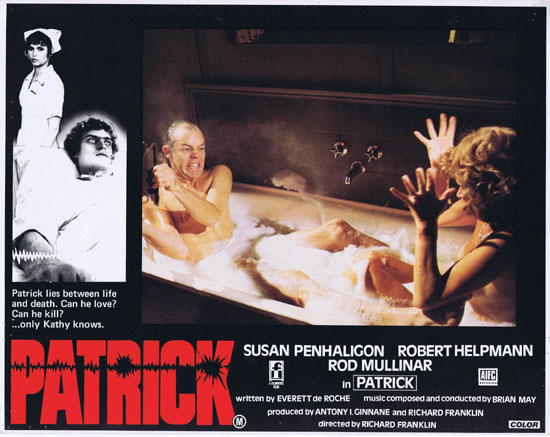 PATRICK 1979 Richard Franklin Australian Lobby Card 1