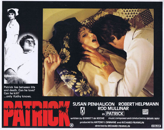 PATRICK 1979 Richard Franklin Australian Lobby Card 2