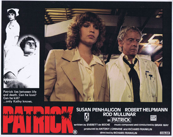 PATRICK 1979 Richard Franklin Australian Lobby Card 3