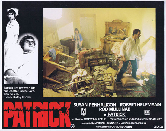 PATRICK 1979 Richard Franklin Australian Lobby Card 4