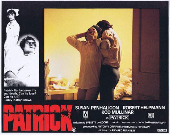 PATRICK 1979 Richard Franklin Australian Lobby Card 6
