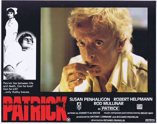 PATRICK 1979 Richard Franklin Australian Lobby Card 7