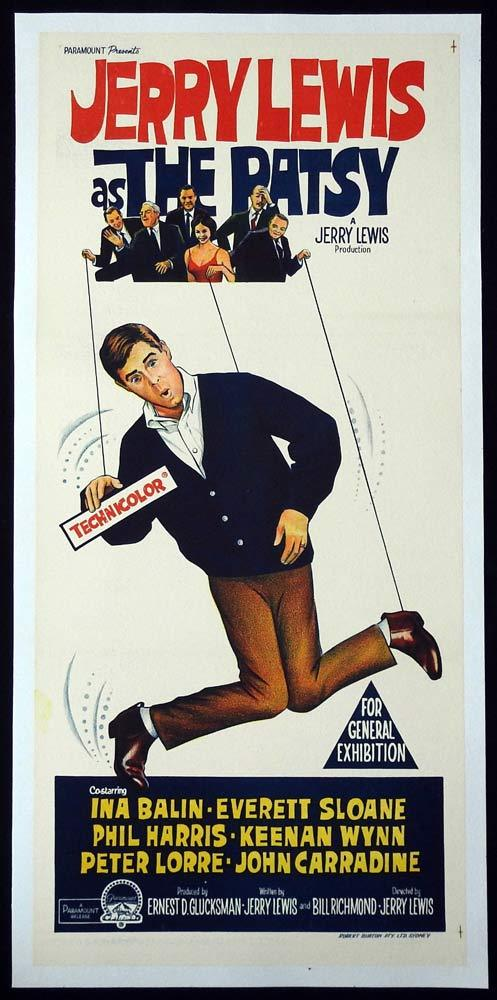THE PATSY Original LINEN BACKED Daybill Movie Poster Jerry Lewis